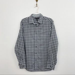 Michael Kors Men's Grey Plaid Button Down Shirt